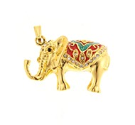 zp padrão elefante dourado 64gb usb flash drive estilo de metal do diamante de Bling