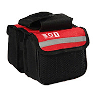 Bike Frame Bag / Compression Pack Cycling/Bike For Waterproof / Reflective Strip / Wearable , Red , 600D Polyester)