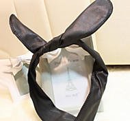 Fashion Rabbit Ears Shape Leather  Headbands
