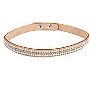 Rhinestone Khaki Leather Bracelets