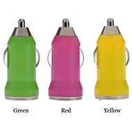 15pcs Mini Bullet USB Car Chargers Adapters for iPhone 4/4S/5/5S/5C/Samsung Galaxy S4/i9500(Random Color)