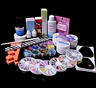 36pcs Glitter UV Gel Reiniger Primer Nail-Art-Kit-Set