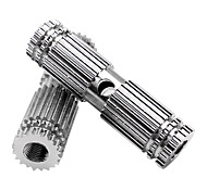 MOON 1 Pair BMX Bike Aluminum Alloy Rear Front Axle Silver Solid Foot Pegs