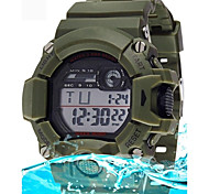 Men's Fashion Digital Waterproof Sport Wristwatch with Alarm Clock Stopwatch LED
