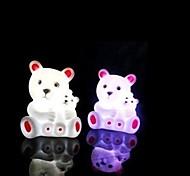urso multicolor design de plástico luz da noite (1pcs)