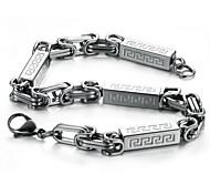 Z&X®  Men's Fashion Personality  Titanium Steel Chain Bracelet