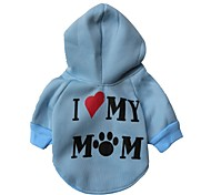 Lovely I Love My Mom Style Fleeces Hoodies for Dogs(Assorted Color Assorted Sizes)