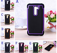 Ball Grain Tough Armor Hit Color Plastic Hard and Soft Combination Case for LG G2 D802
