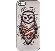 Unique Owl Design Aluminium Hard Case for iPhone 4/4S