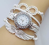 Women's Watch Crystal Wing Infinity Leather Weave Band Cool Watches Unique Watches