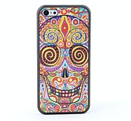 Colorful Skull Style Protective Back Case for iPhone 5C