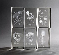 3d criativo de presentes dentro de novidades peso de cristal escultura