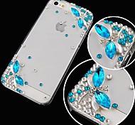 libellule avec diamant au dos du boîtier pour iphone 5/5 ans