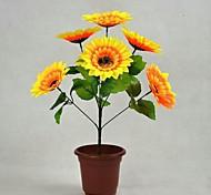 7 Heads Sunflower Simulation  Silk Cloth Flower