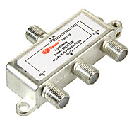 3 Way Satellite TV Antenna Coaxial Power Splitter Silvery