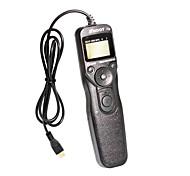 "1,2 ""lcd digitale timer remote switch trigger voor sony a7 A6000 - zwart (2 x AAA niet inbegrepen)"