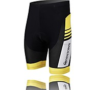 XINTOWN Unisex The High Quality Terylene Cushion Outdoor Cycling Shorts—Black+Yellow