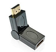 180 Degree Rotation 90 Angle HDMI Male to Female Adapter