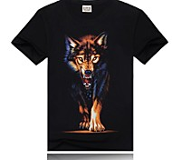 em torno do pescoço manga curta dos homens da camisa de t impressão digital preto
