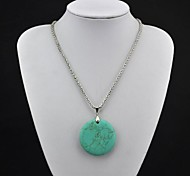 Green Pendant Necklaces Alloy Party / Daily Jewelry