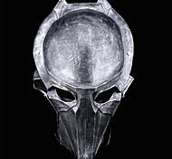 Eisen Krieger Adler Oberflächenharz-Maske für Halloween-Party (silber&braun) (1 PC)