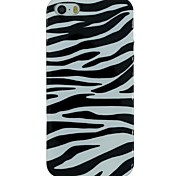 The Zebra Pattern TPU Material Soft Back Cover Case for iPhone 5/5S