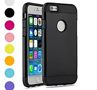 Two-in-One Armor Design PC and Silicone Cover for iPhone 6 (Assorted Colors)