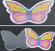 1PCS Template Clear Pegboard Colorful Butterfly Pattern for 5mm Hama Beads Fuse Beads DIY Jigsaw