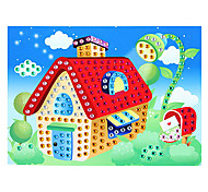 EVA Mosaic Crystal 3D Stickers Children Hand DIY Puzzle Romantic Cabin Toy