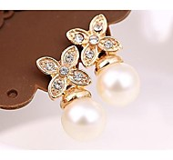 Love Is You Quality Goods Fair Maiden Temperament Four Which Diamond Pearl Earrings
