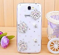 Diamond Gem Flower Back Cover Case for SAMSUNG GALAXY Note 2 N7100