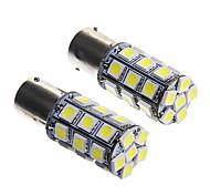 1156 6W 27x5050 SMD White Light Bulb for Car Brake Lamp (DC12V 2pcs)