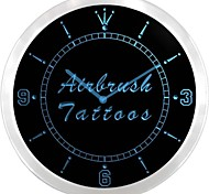 Airbrush Tattoos Shop-Display Leuchtreklame LED-Wand Uhr