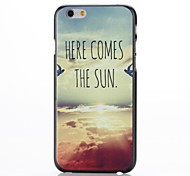 Westward Declines The Sun Pattern Plastic Hard Cover for iPhone 6