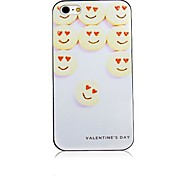 Smiling Face Pattern Biscuits Black Frame Back Case for iPhone 4/4S