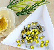 4.6*4.8mm Boutique(yellow)Flat Back Rhinestones(Phone Beauty Accessories)Nail bedazzle 100 pieces of beads in bag