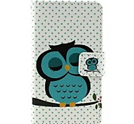 Owl Pattern PU Full Body Case with Card Slot for Nokia 520