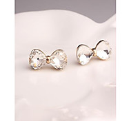 Korea Fashion Butterfly Crystal Stud Earrings for Women in Jewelry