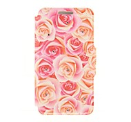Kinston the Red and Yellow Roses Diamond Paste Pattern PU Leather Full Body Case with Stand for Huawei P6