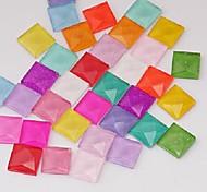 Z&X®  10MM 100 PCS DIY Candy Color Jelly Flat Square Decorative Glass Rhinestone(Random Color)