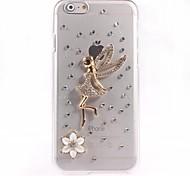 caso duro del diseño del ángel de la PC para el iPhone 6 Plus