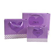 Coway 3Pcs Gift Shopping Hand Bag Party Paper Gift Bags Set (Assorted Color)