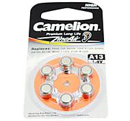 6pcs Camelion zinc audífono a13 1.4v baterías de aire de plata