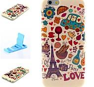 Liebe Muster Silikon-Papiereinband und Mini diaplay Standplatz für iphone 6 / 6S