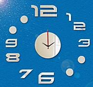 3D DIY Modern Style New Acrylic Fashion Mirror Wall Clock