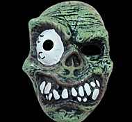 Halloween Masquerade Supplies PVC Horror Skull with Mono-Eye Tricky Mask