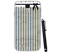 Exquisite Colorful Ribbon Pattern PC Hard Case with A Stylus Pen for Samsung Galaxy S4 I9500