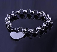 Men's Fashion Personality Titanium Steel Manual Peach Heart Bracelets