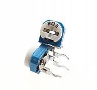 20k ohm azul&resistor branco ajustável - azul + branco (10 peças)