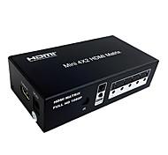 enlace-mi hdmi HDMI Switch Matrix 1.3 4x2 de alta velocidad (4 en 2) con control remoto soporte de audio 3D